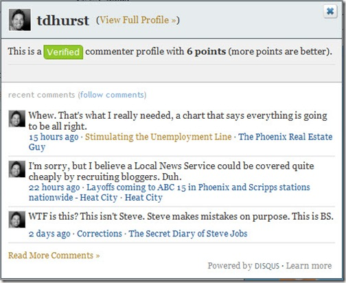 Disqus Commenter Expanded
