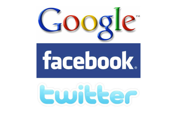 google facebook twitter