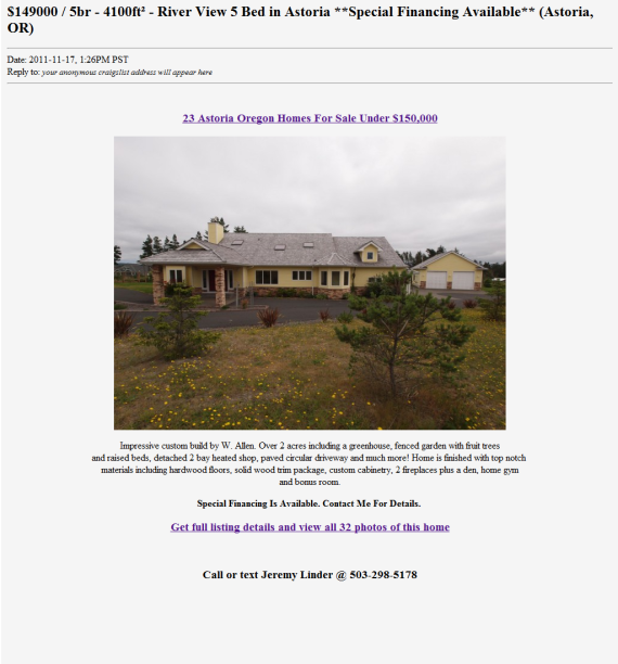 Craigslist real estate strategy more traffic leads for Real estate craigslist template