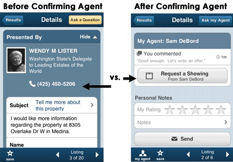 Confirm Agent Realtor Mobile App