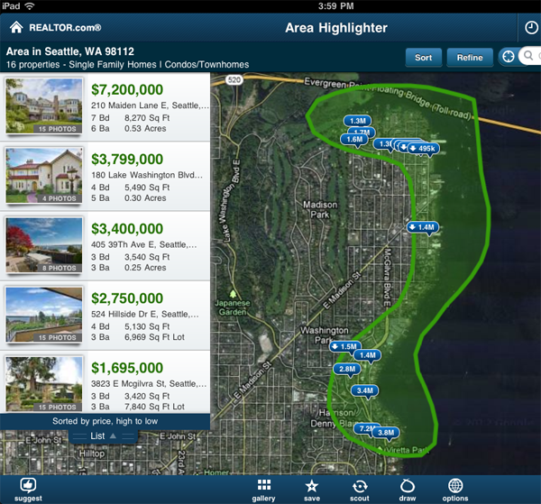 Realtor.com agent real estate mobile app