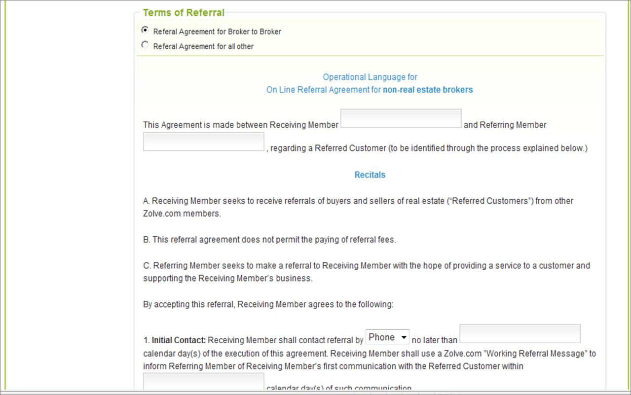 Referral Agreement Screenshot 2